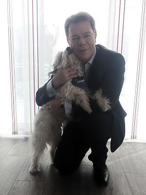 Oliver Groß mit Hund